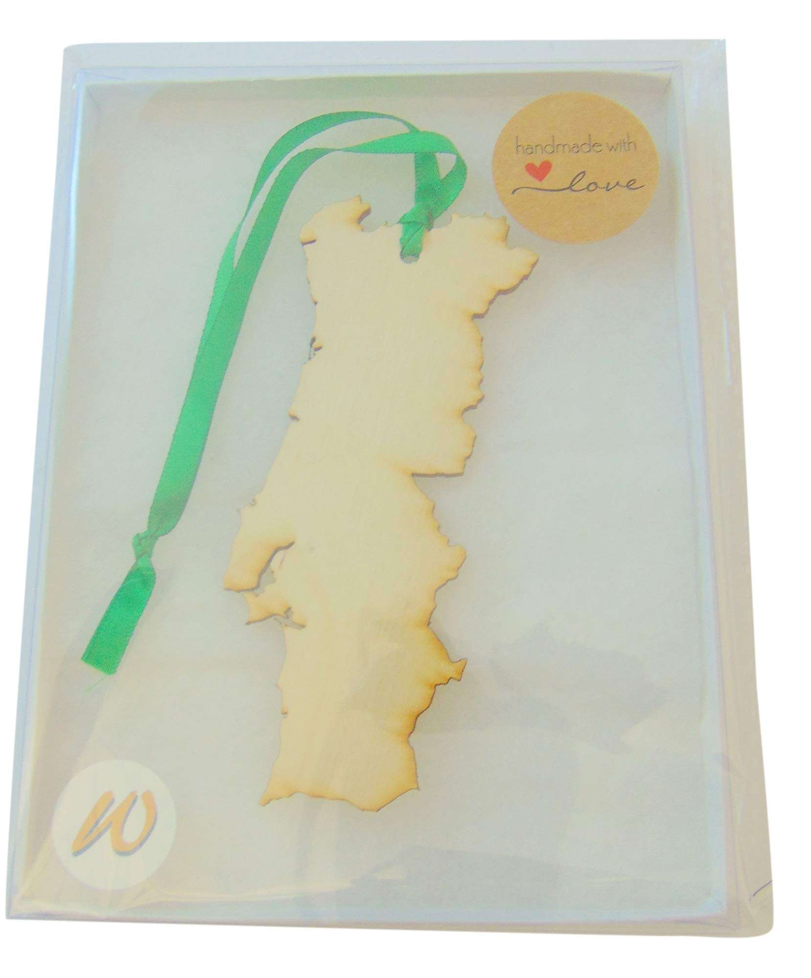 Portugal Christmas Wood Ornament Boxed Portuguese Map Wooden Decoration Handmade in The USA by Westman Works (Image #2)