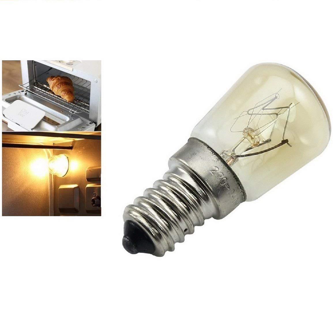 Couleur: Jaune Garciaria Lampe /à Vapeur de Four E14-25w Haute temp/érature 300 /° c Machine /à Pain Jaune Ampoule au tungst/ène AC220-240V
