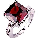 YAZILIND CZ Ring Stone Wedding Band Stainless Steel Bridal Rhinestone Jewelry For Women