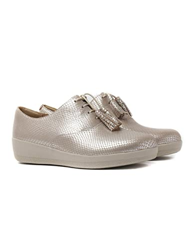 8e1e5e2dd8d8 FitFlop Classic Tassel Superoxford - Silver Leather Snake Womens Shoes 5 UK