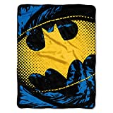 "Batman, Ripped Shield Micro Raschel Throw Blanket, 46"" x 60"""