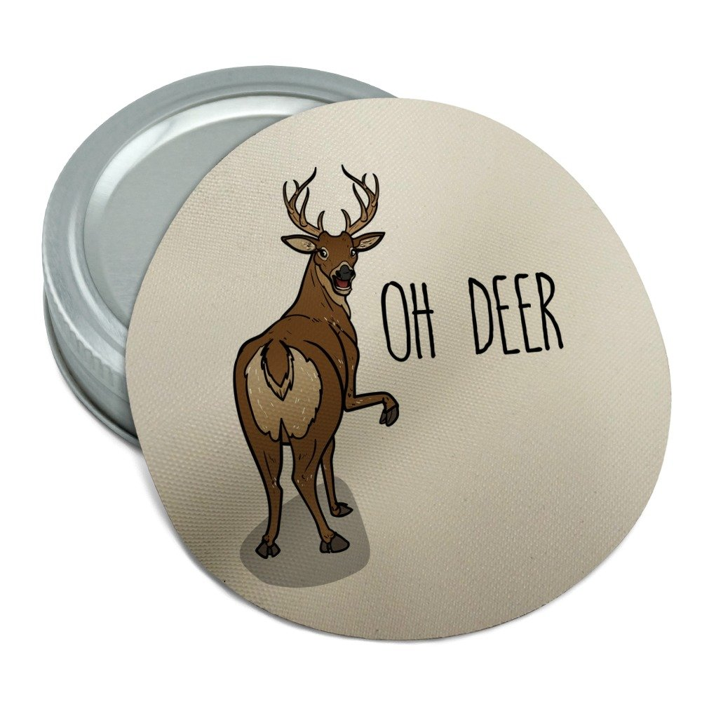 Oh Deer Butt Dear Funny Round Rubber Non-Slip Jar Gripper Lid Opener GRAPHICS & MORE