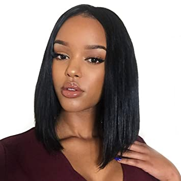 MORICHY Hair Short Bob Wigs for Black Women Front Lace Wigs 100% Brazilian  Virgin Remy c2f438541