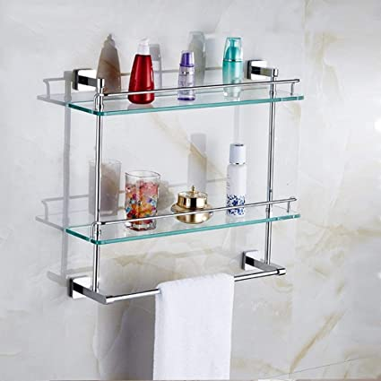 Bathroom Storage Shelf Organizer Wall Mount Over Toilet Storage Caddy Bronze Set