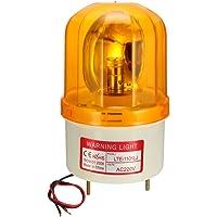 sourcing map Bombilla de luz de advertencia tipo Lámpara LED de alarma sonora intermitente giratoria 90dB AC 220V…
