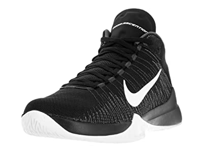 Nike ZOOM ASCENTION mens basketball-shoes 832234-001_8.5 - BLACK/WHITE