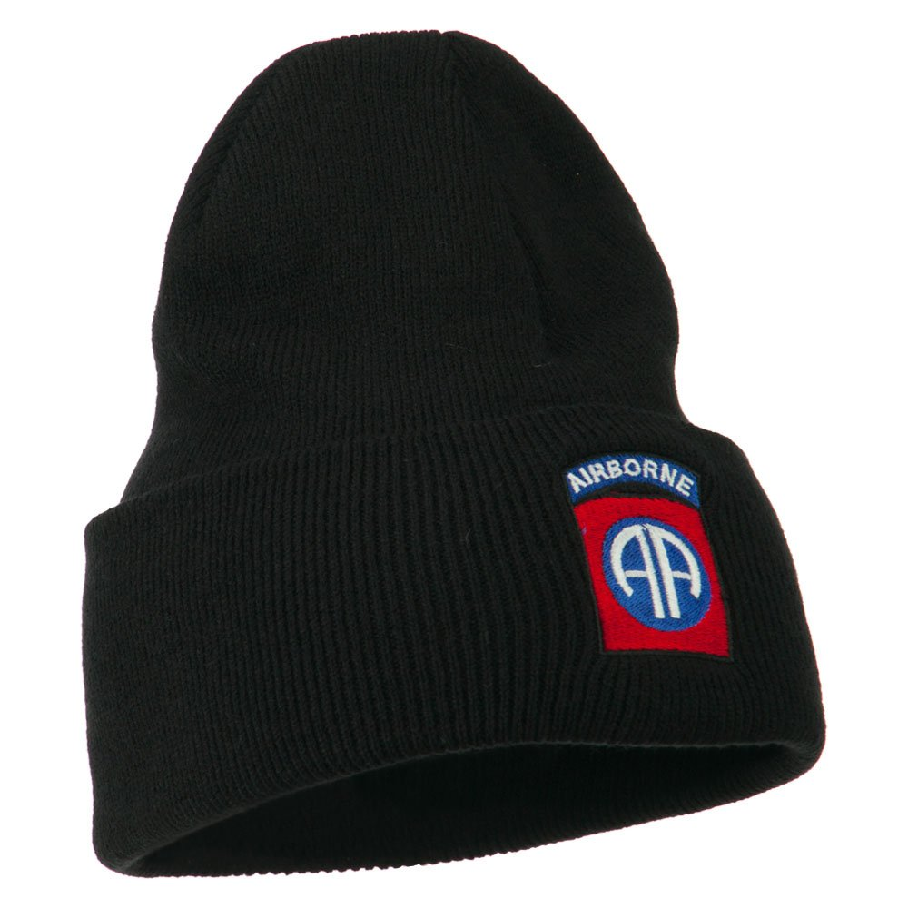 0e2bef63530 Amazon.com  82nd Airborne Military Embroidered Beanie - Black OSFM  Clothing