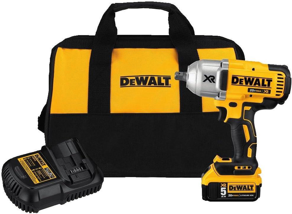DEWALT 20V MAX XR Impact Wrench Kit, Brushless, High Torque, Detent Anvil, 1 2-Inch DCF899P1