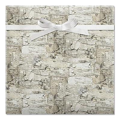 Birch Jumbo Rolled Gift Wrap - 72 sq ft.