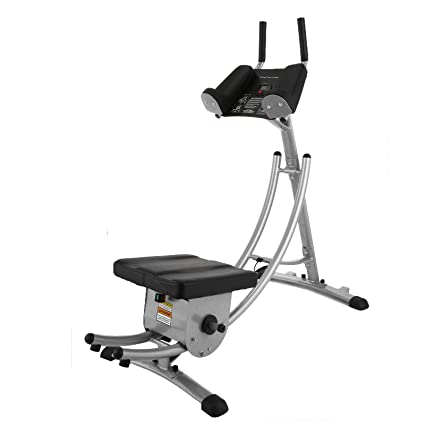 d60be1d8fd Popsport Abdomen Machine 330LBS Abdominal Coaster Abdomen Exercise  Equipment with Adjustable Seat and Electronic Digital Counter