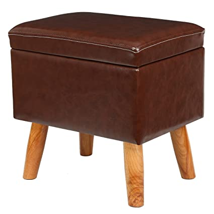 Incroyable Eshow Ottoman And Storage Foot Stools Ottoman With Storage Decorative Shoe  Bench Leather Storage Ottoman Cube