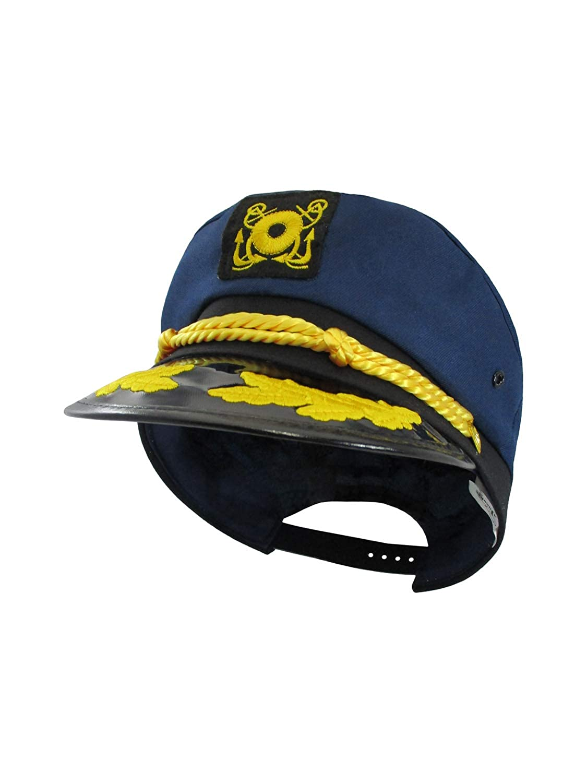 Amazon.com  Nicky Bigs Novelties Navy Skipper Sailor Ship Yacht Boat  Captain Hat Marines Admiral Blue Gold 2 Pack  Clothing a1f5cf4173b9