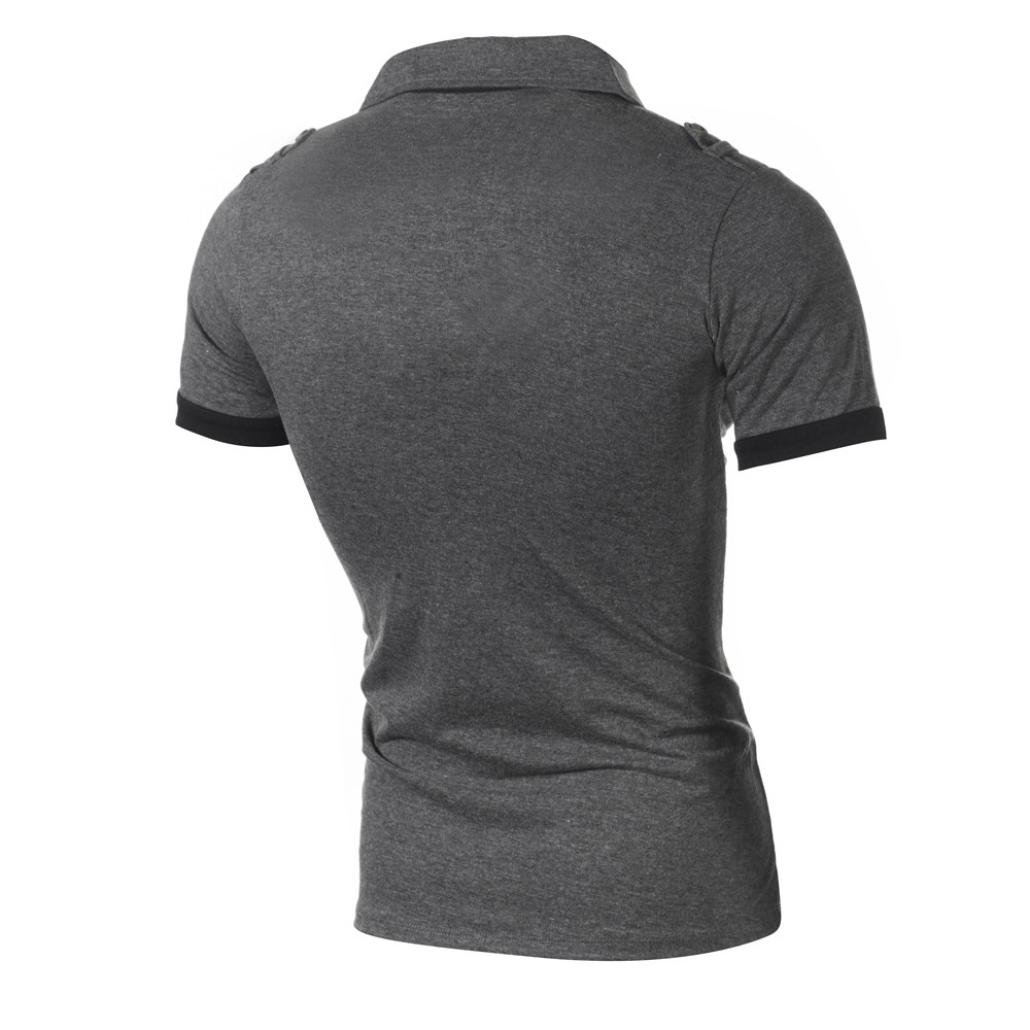 Camiseta Hombres, ❤ Manadlian de los hombres Casual Slim manga corta Letra T Shirt Blusa superior Moda Personalidad (CN:M, Gris): Amazon.es: Belleza