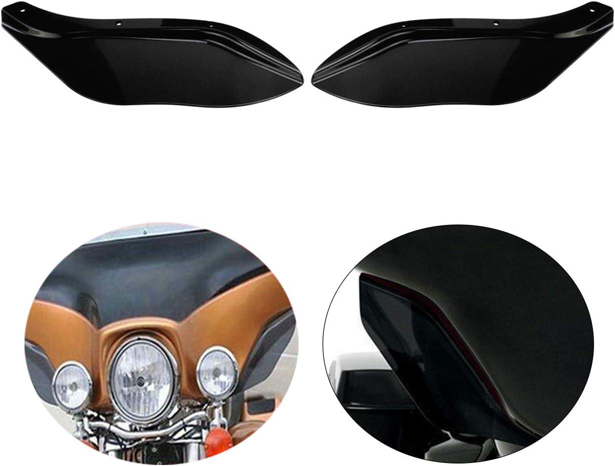 Rebacker ABS Side Wings Air Deflectors Fairing Windscreen Side Cover Shield for Harley Touring FLHR FLHT FLHX 1996-2013