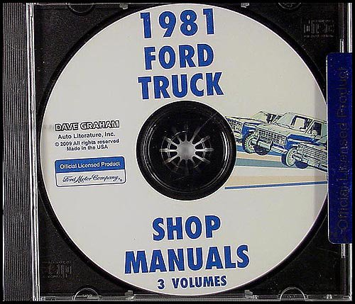 1981 Ford Truck and Van Repair Shop Manual CD