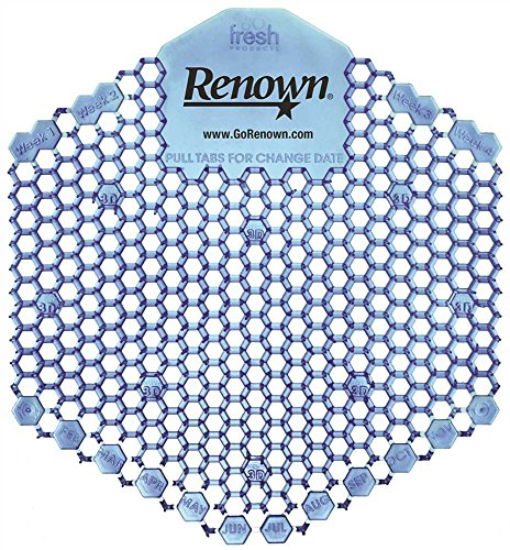 RENOWN REN03123 RENOWN WAVE 3D URINAL SCREEN, COTTON BLOSSOM, 10 PACKS PER SINGLE PACK (1/PK)