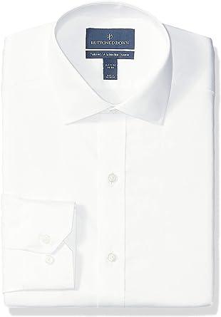 Marca Amazon - Buttoned Down Tailored-fit Spread-Collar Micro Twill Non-Iron Dress Shirt Hombre: Amazon.es: Ropa y accesorios
