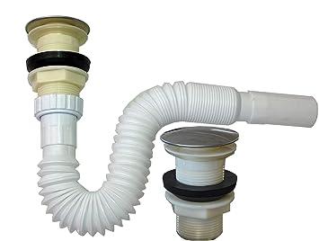 Flexibel Siphon Ablaufgarnitur Pop Up Ablaufventil Abfluss Ablauf