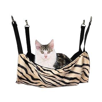Blancho [de Alta Calidad Faddish Cebra] Suave Perro Gato Mascotas Cama, Gato Hamaca (50 * 38 cm): Amazon.es: Productos para mascotas