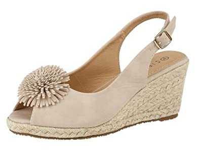9a9a986415a Womens Wedge Comfort Sandals Shoes Nude (5 UK)  Amazon.co.uk  Shoes ...