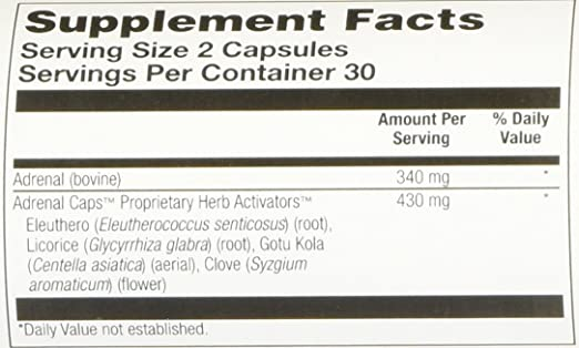 Amazon.com: Solaray Adrenal Suplemento Cápsulas, 170 mg, 60 ...