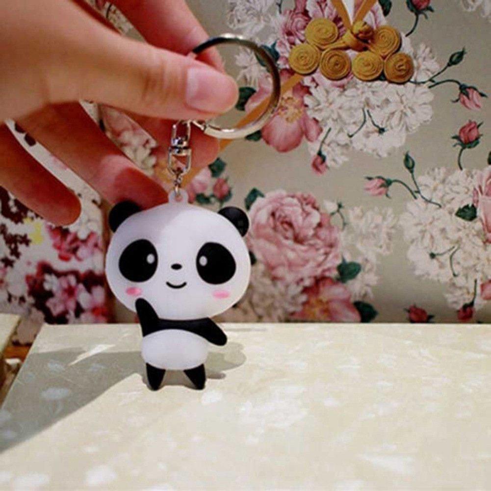 Eudola Porte Clef Panda de Dessin Anim/é Mignon Porte-cl/és Sac Pendentif /Étiquettes /à Bagages en Plastique de Voyage Avec Porte-cl/és Ladies cadeaux