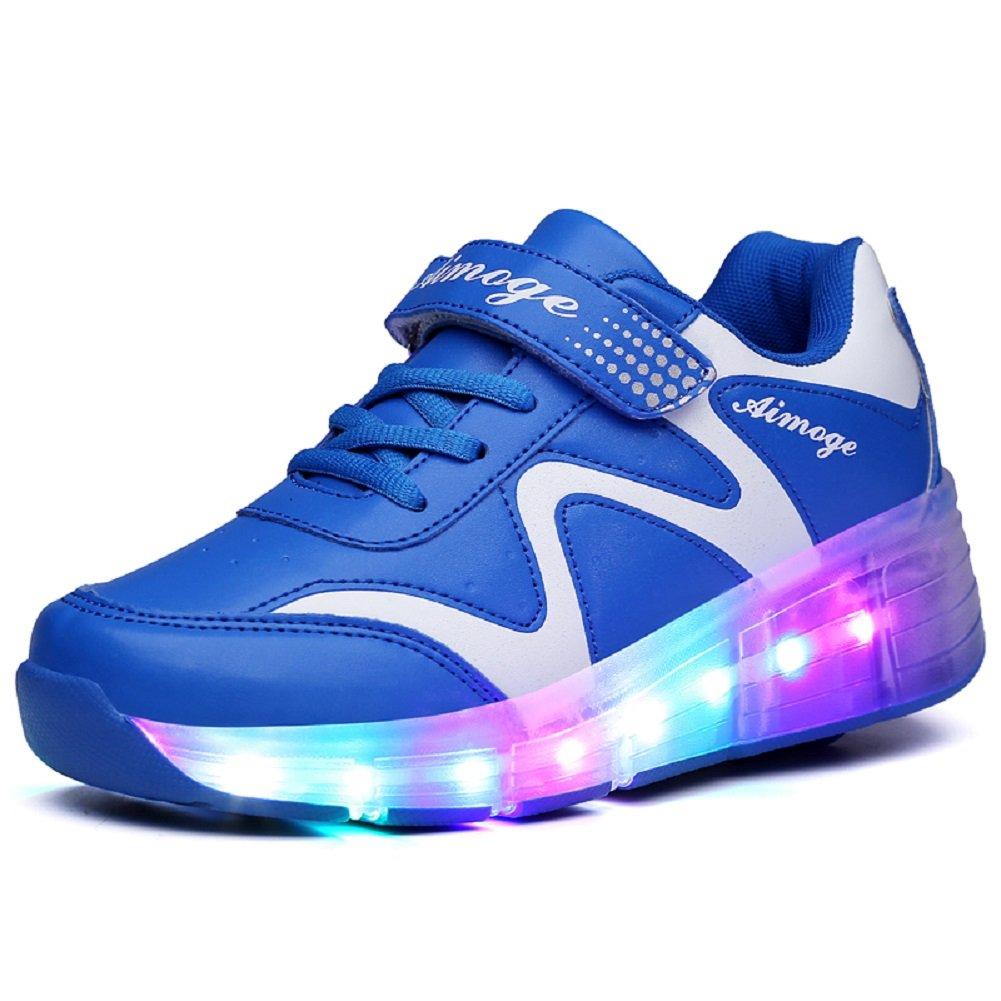 Unisex Enfants Mode Roller Skates LED Clignotante Unique Roue Automatiques Rétractables Patins à roulettes Garçons Filles Chaussures D'Entraînement de Sport Plein Air Sneakers