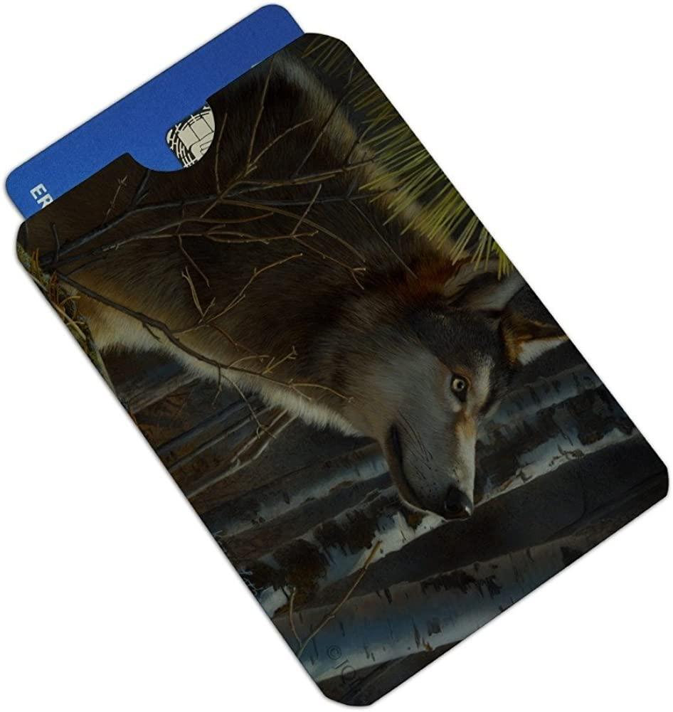 Wolf Looking Through the Woods Credit Card RFID Blocker Holder Protector Wallet Purse Sleeves Set of 4