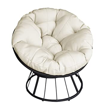 Amazing Atr Deluxe 360 Swivel Papasan Chair With Soft Cushion Unemploymentrelief Wooden Chair Designs For Living Room Unemploymentrelieforg