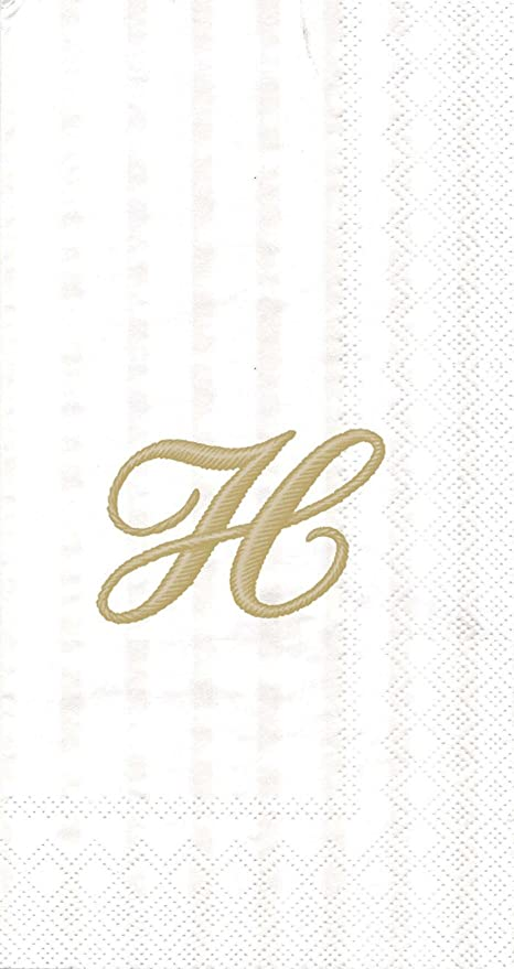 Small White Linen Guest Hand Bathroom Towel Monogrammed Initial J Hemstitched