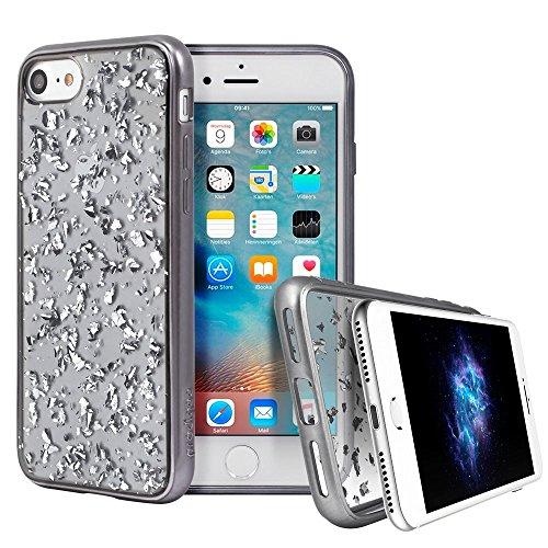 Prodigee [Scene Treasure] Clear Transparent Platinum Gray Black for Apple iPhone 8 4.7
