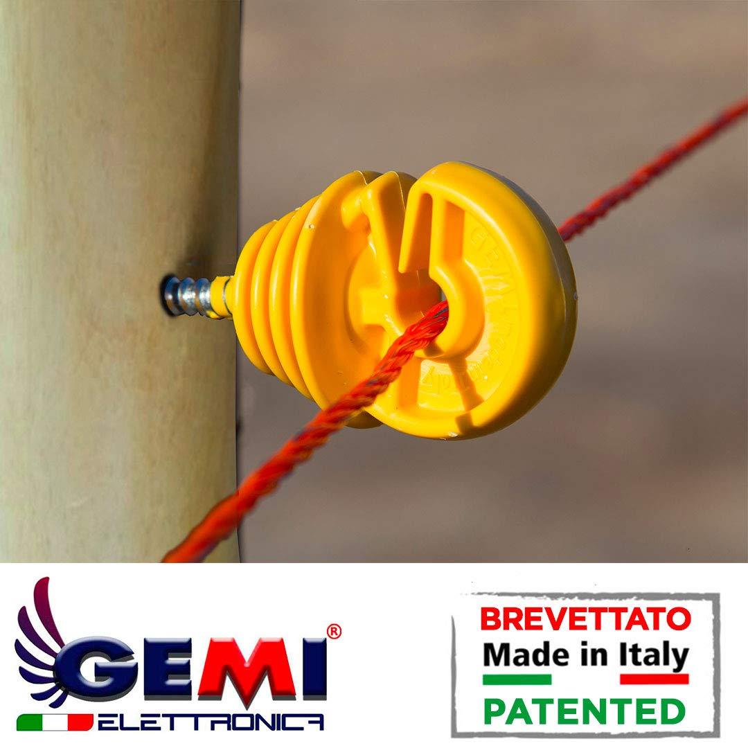 Aisladores para postes de Madera para Pastor el/éctrico Cerca el/éctrica Gemi Elettronica