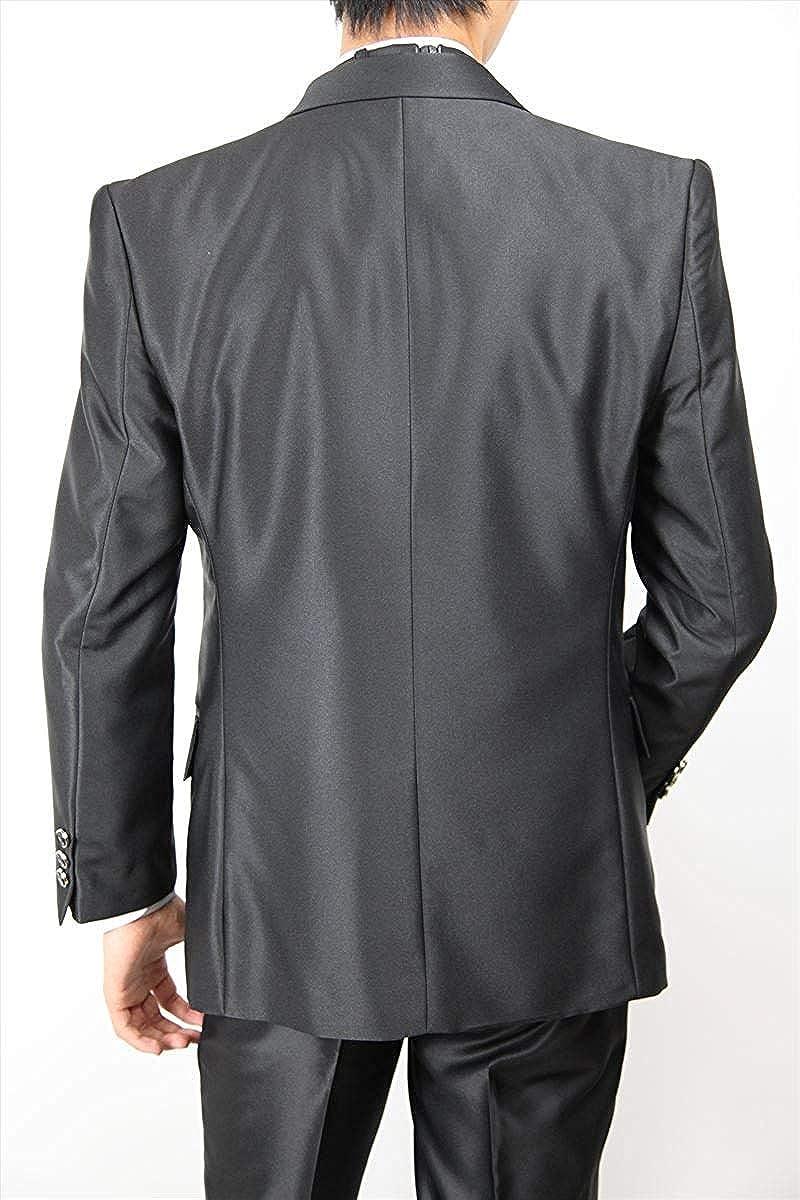Wonder Stage Mens Slim Fit 4 Pc Silver Tuxedo Suit Jacket Pants Vest Ascot Tie