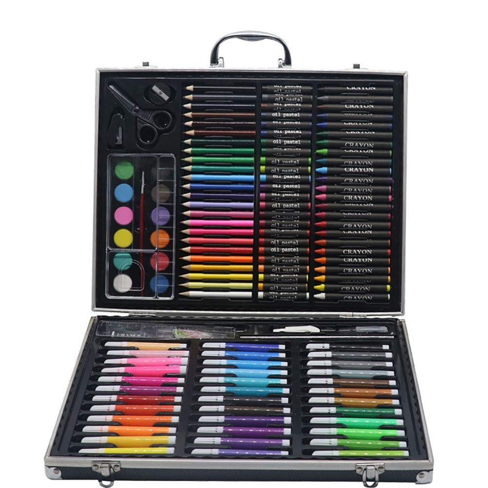 Children's Watercolor Pen Set Easter Gifts For Kids Portable Art & Coloring Supplies Watercolor Painting Set Box Art Set Colored Pencil Set DIY Painting Tools ( Color : Black , Size : Free size )