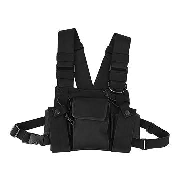 Fosa Radio Walkie Talkie Chest Pocket Harness Bags Pack Mochila Holster Two Way Radios Carry Funda Accesorio Holder para la policía, laboratori de ...