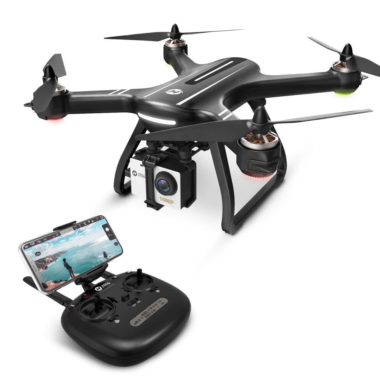 Holy Stone ドローン GPS搭載 ブラシレスモーター より安全 安定 1080P広角HDカメラ フライト時間20分 操縦可能距離1000M 自動航行 生中継距離400M フォローミーモード オートリターンモード オートホバリングモード ヘッドレスモード 8GB SDカード付き 国内認証済み HS700 (黒) B07DCJ9Z1Q  黒