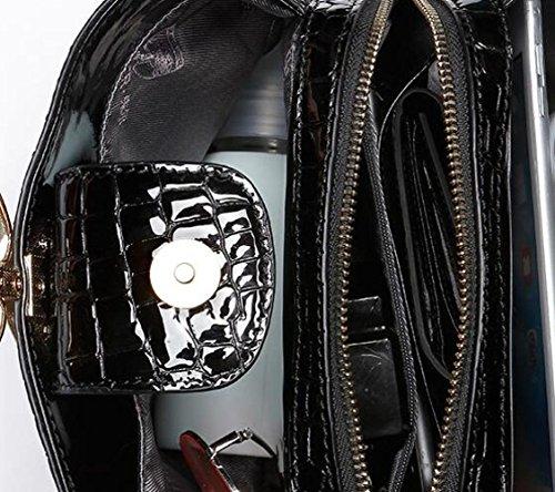 poignée main supérieure sac sacs sac en à Red seau bandoulière Mesdames à Totes anneau sac cuir portable crocodile à modèle BWqTS