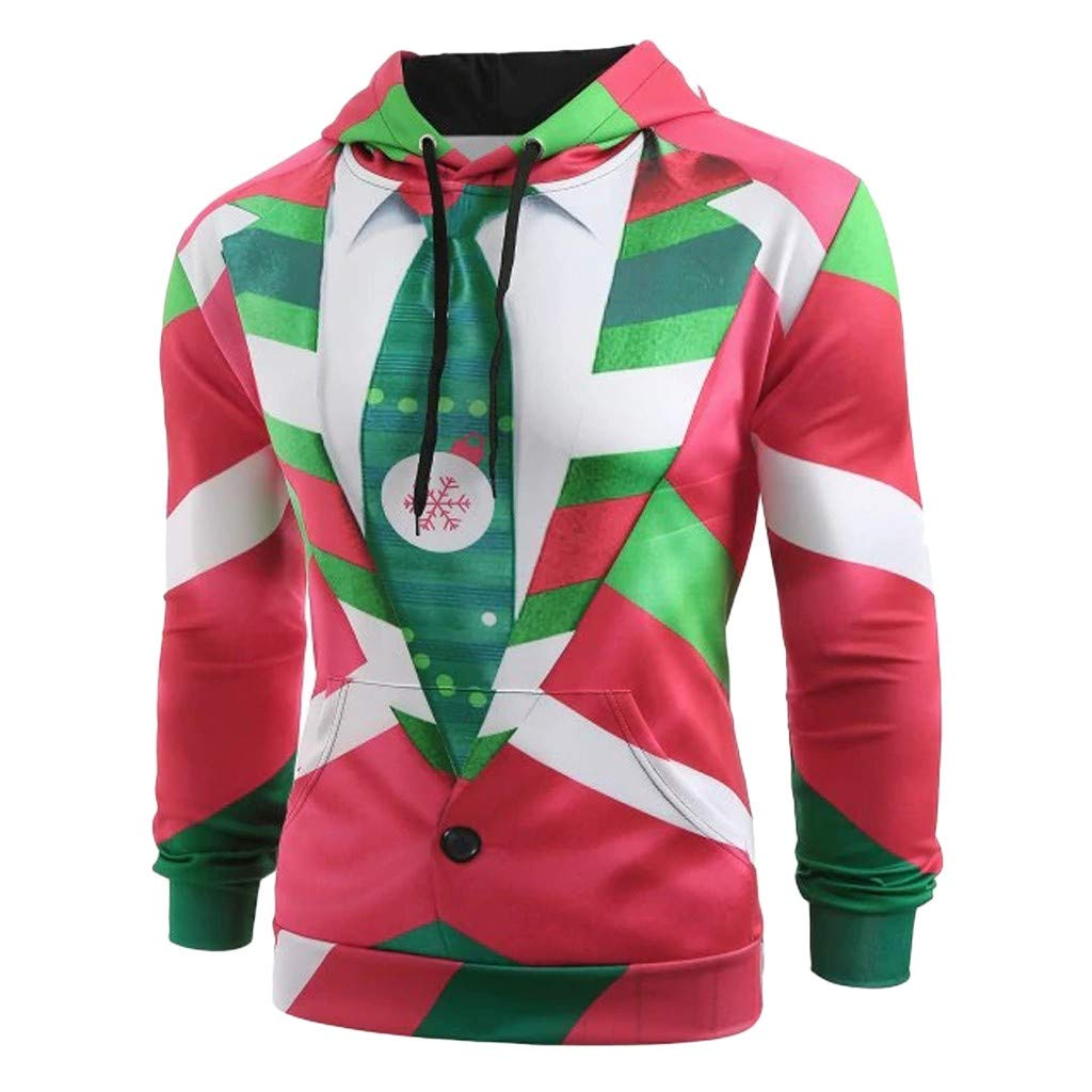 WM & MW Novelty Mens Christmas Ugly Sweatshirt Funny 3D ...