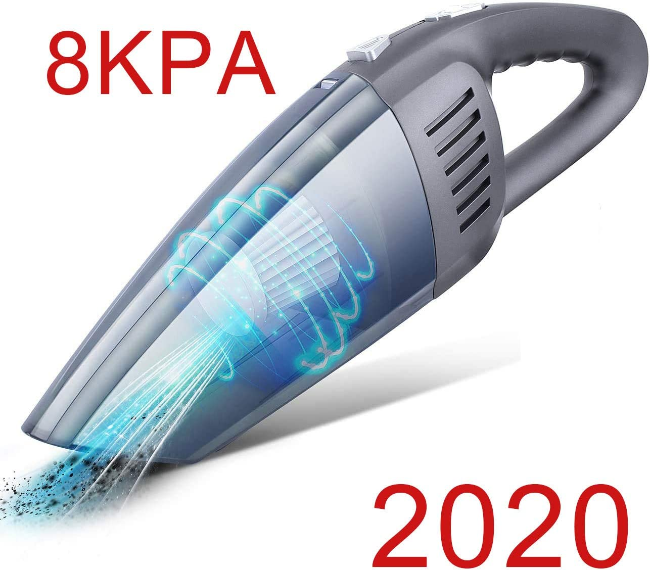Handheld Vacuum, Handheld Vacuum Cleaner Cordless 8Kpa Strong Suction Powered by Li-ion Battery Rechargeable Quick Charge Tech, Mini Vacuum for Home and Car