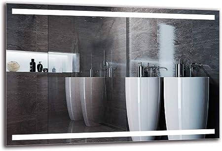 Miroir LED Premium - Taille du Miroir 120x80 cm - Miroir de Salle de Bain -  Miroir Mural - Miroir Lumineux - Miroir avec éclairage - Prêt à ...