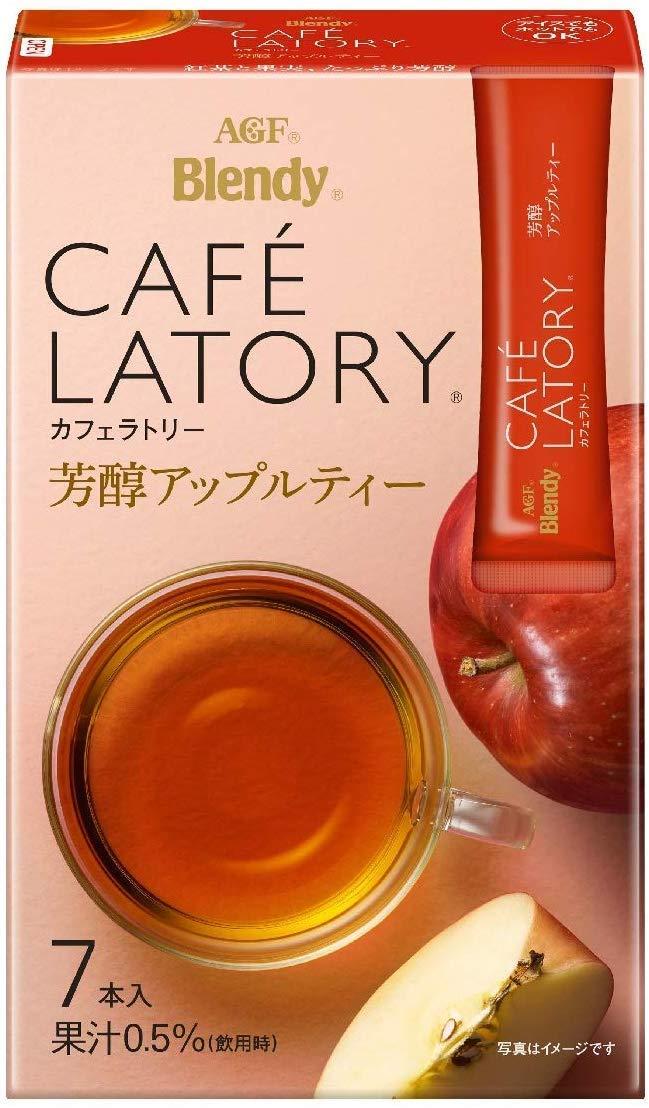 Cafe Latory Rich Apple Tea 7Sticks (1.6oz)× 3pcs Japanese Instant Tea AGF Ninjapo
