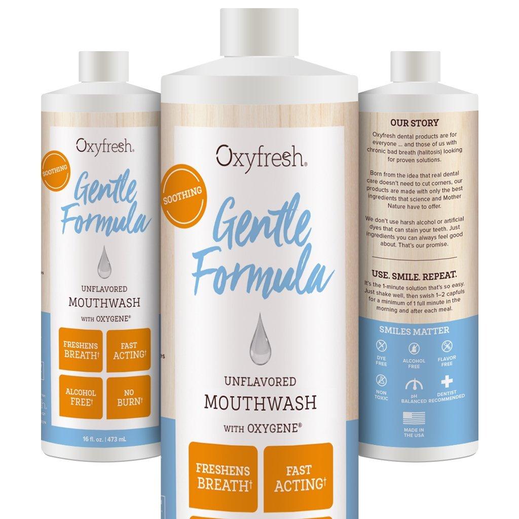 Oxyfresh Unflavored Rinse Mouthwash, 16 oz 107