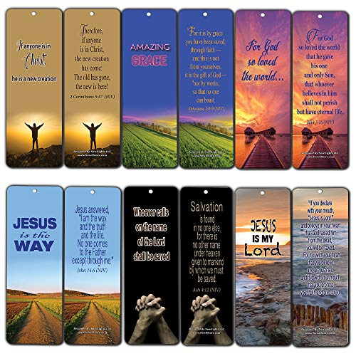 - Bible Verse Cards (30-Pack) Salvation Scriptures Bookmarks John 3:16 - Collection of Bookmarks with Bible Texts About Salvation