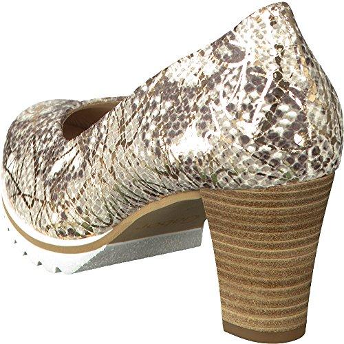 GABOR comfort - Damen Pumps - Grau/Gold Schuhe in Übergrößen