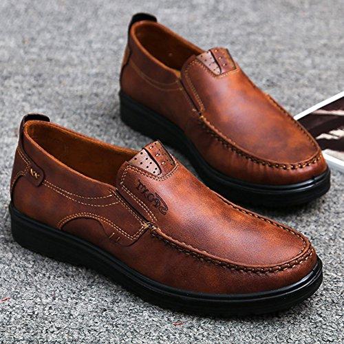 45 Mocassins Bureau Homme Costume Grande Décontracté Bateau Taille 46 Chaussures Derby Ronde Bout 48 Ville Marron Cuir Chaussure 47 Conduite Affaire wealsex dTOxqw56d