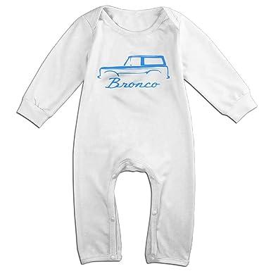 79721f9c8 Amazon.com: 1966-77 Ford Bronco Blue Baby Onesie Romper Jumpsuit Bodysuits:  Clothing