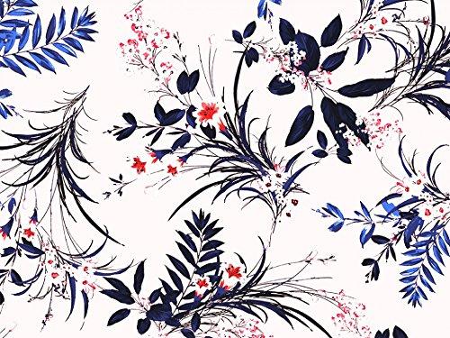 Dress Print Sateen - John Kaldor Floral Print Cotton Sateen Dress Fabric Cream - per metre