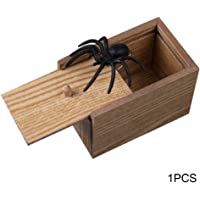JklausTap Gag Geschenk Tricky Toy Funny Prank Spider Holz Scare Box Lebensechte f/ür Kinder Erwachsene