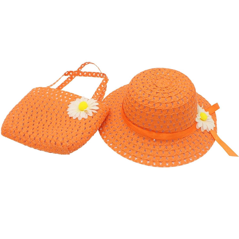 f2bb2c2ddae2 YOPINDO Baby Straw Hat Summer Girls Hat Purse Set Beach Floppy Hats Kids  Sun Hat with Bag