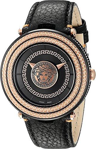 Versace Men's VQL030015 V-Metal Icon Analog Display Quartz Black Watch